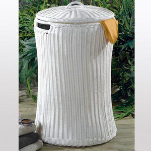 Outdoor Wicker Laundry Basket - Circle