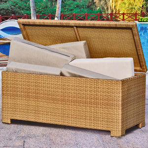 Outdoor Wicker Laundry Basket / Trunk - Treasure