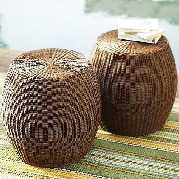 Outdoor Wicker Ottoman - Golar