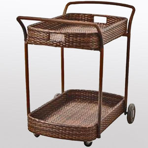 Outdoor Wicker Serving Trolley Dynamic