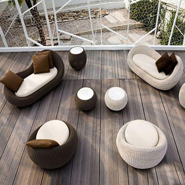 Outdoor Wicker Sofa - Blue Eye