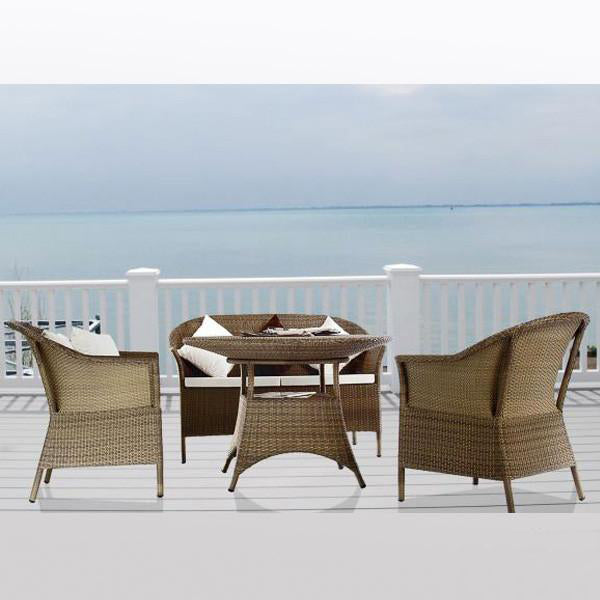 weathered chocolate chairs img with wicker champagne dark patio six teak cieux furniture grey table df products