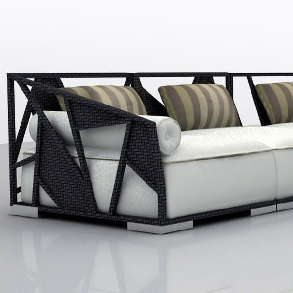 Outdoor Wicker Sofa - Skyliner Couch