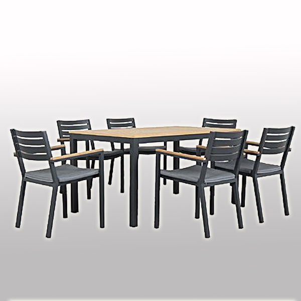 Outdoor Wood & Alluminum - Dining Set - Magnolia