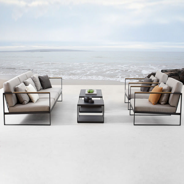 Outdoor Wood & Aluminium - Sofa Set - Sycamore