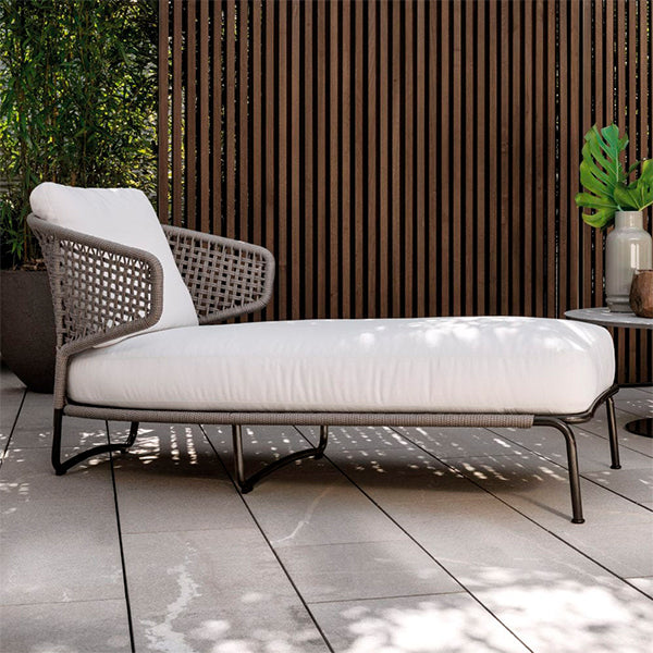 Outdoor Braided & Rope Sunlounger - Aston