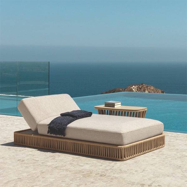 Outdoor Braided & Rope Sunlounger - Cliff