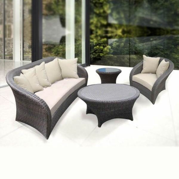 Outdoor Furniture - Wicker Sofa - Coral
