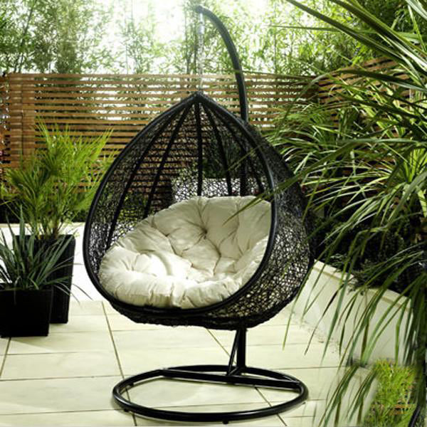 Outdoor Wicker Swing - Lavender