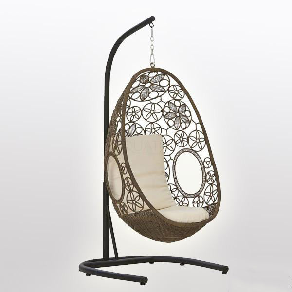 Outdoor Wicker Swing - Flora