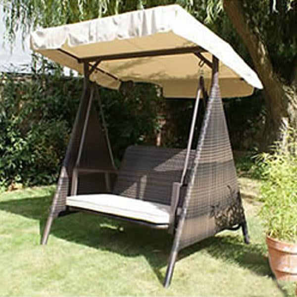 Outdoor Wicker Two Seater Swing - Royal