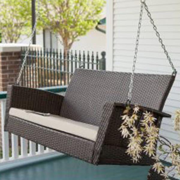 Outdoor Wicker Two Seater Swing - Sapphire
