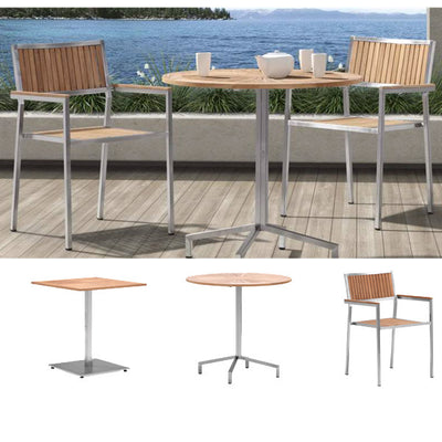 Outdoor Wood & Steel - Dining Set - Cottonwood