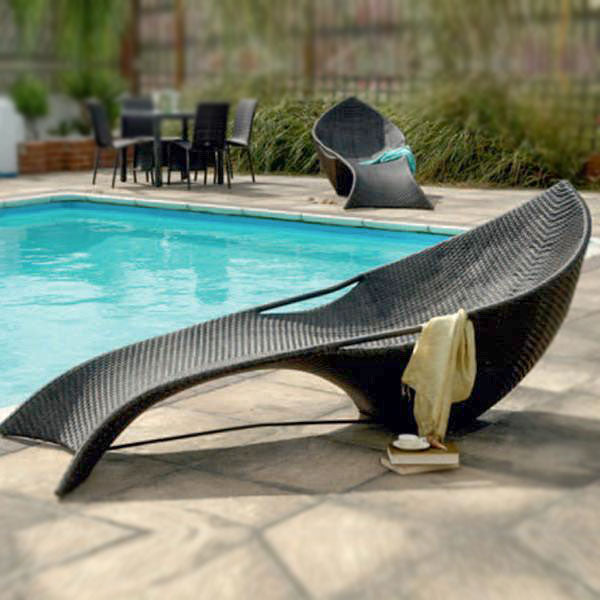 Outdoor Wicker Sun Lounger - Finnish