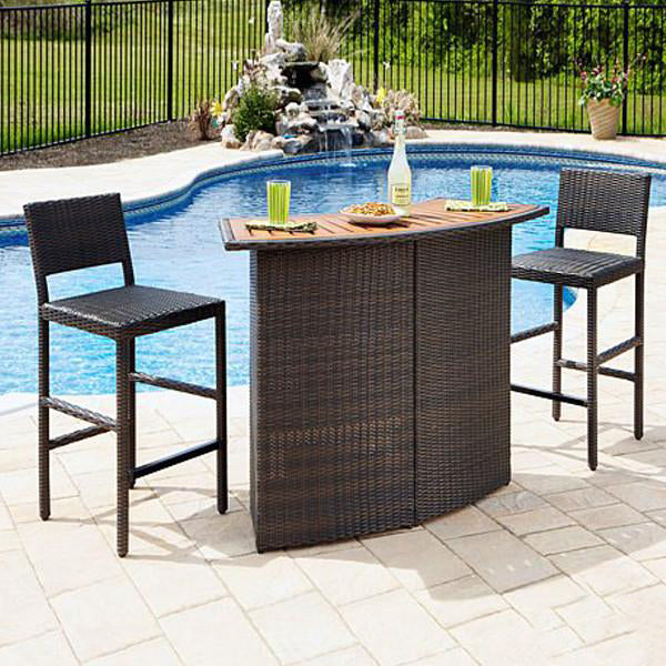 Outdoor Furniture - Wicker Bar Set - Opera