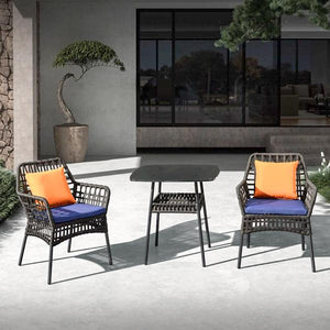 Outdoor Braided & Rope Coffee Set - Confort