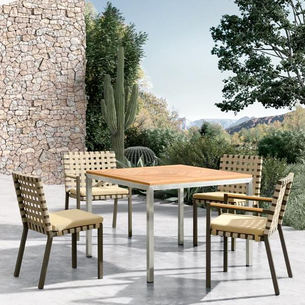 Outdoor Braided & Rope Dining Set - Thonet 909