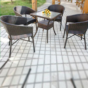 Wicker Garden Set - Ecolite Alpha