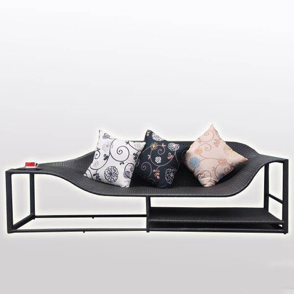 Outdoor Wicker Couch - Ebony