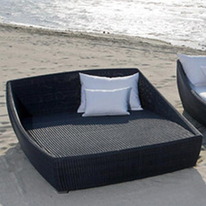 Outdoor Wicker Canopy Bed - Sail