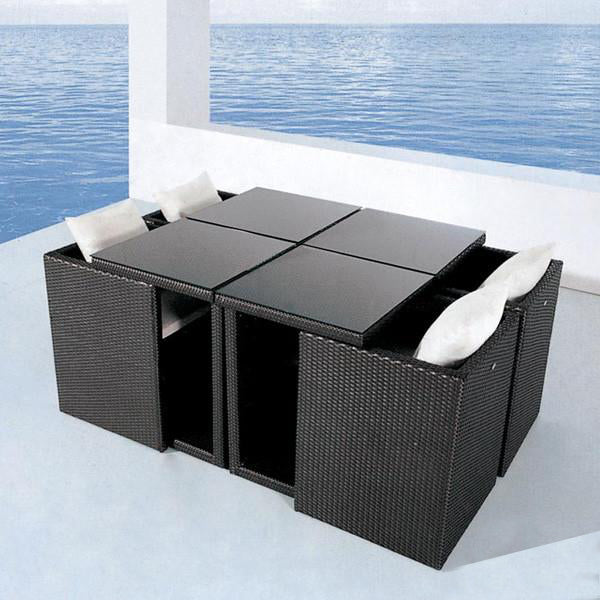 Outdoor Wicker Garden Set - Cube