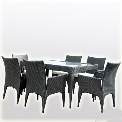 Outdoor Wicker Garden Set - Ebony