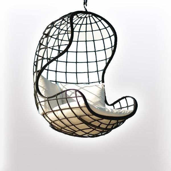 Outdoor Wicker - Swing With Stand - Earth