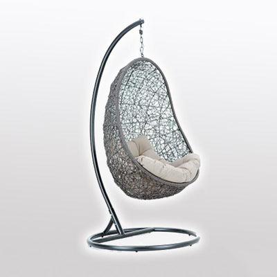 Outdoor Wicker - Swing With Stand - Shell