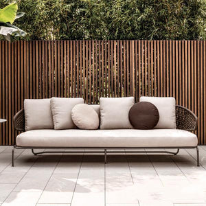Outdoor Braided & Rope Sofa - Baroque