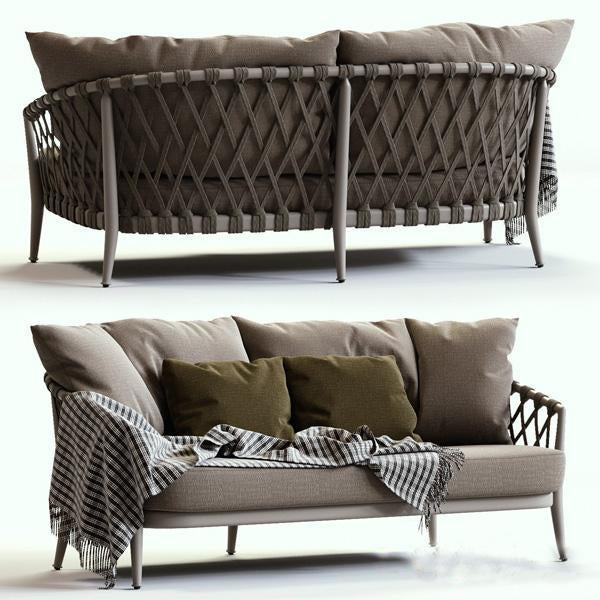Outdoor Braided & Rope Sofa - Regency Next