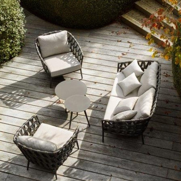 Outdoor Braided & Rope Sofa - Regency