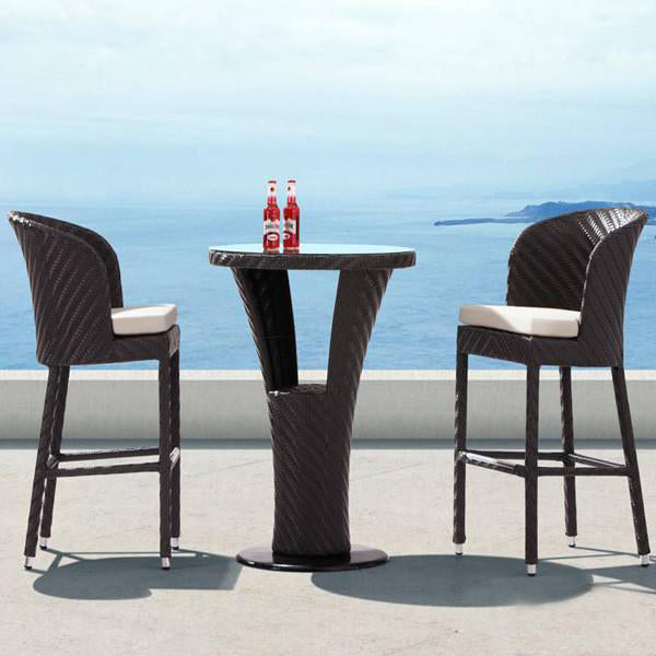 Outdoor Furniture - Wicker Bar Set - Madrid