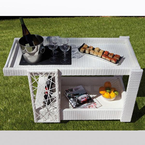 Outdoor Wicker Serving Trolley Club