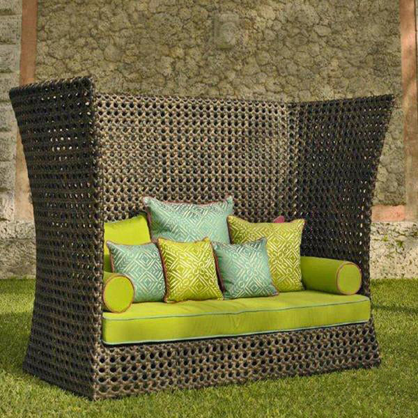 Outdoor Wicker Couch - Boulevard
