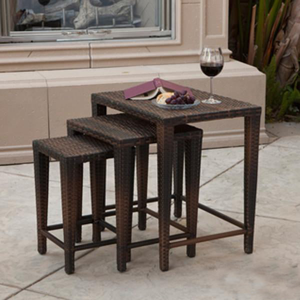 Outdoor Wicker Nest Table - Classic