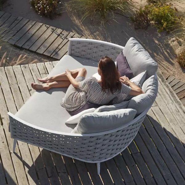 Outdoor Braided & Rope Couch - Cascade