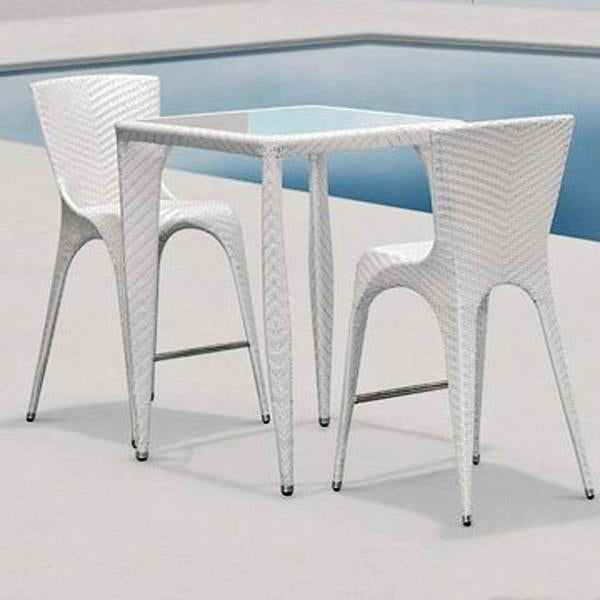 Outdoor Furniture - Wicker Bar Set - Cloud