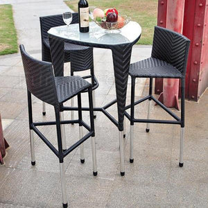 Outdoor Furniture - Wicker Bar Set - Boston