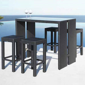 Outdoor Furniture - Wicker Bar Set - Los Angeles