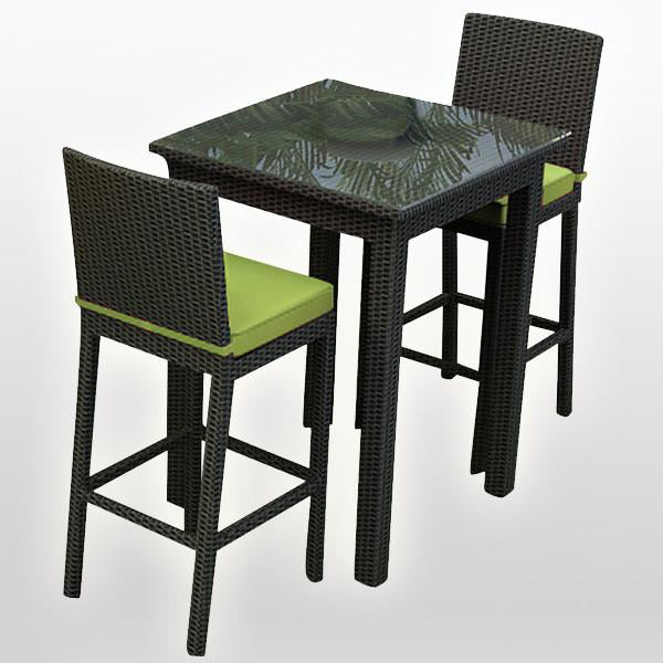 Outdoor Furniture - Wicker Bar Set - Yellowwood