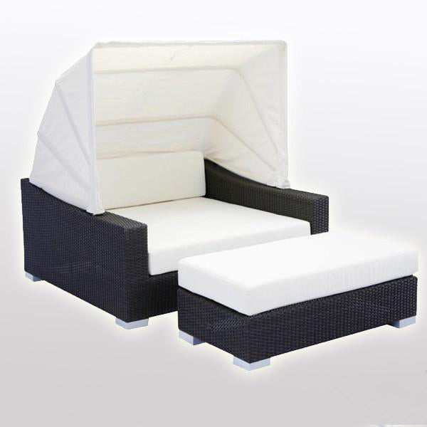 Outdoor Wicker Canopy Bed - Aura