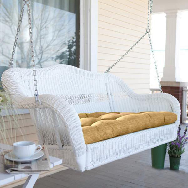 Outdoor Wicker Two Seater Swing - Friends