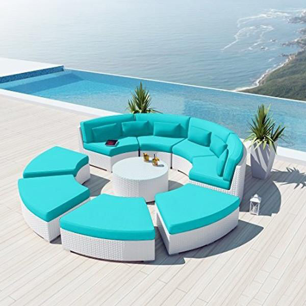 Outdoor Wicker Sofa - Rainbow