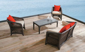 Outdoor Wicker Sofa - Window