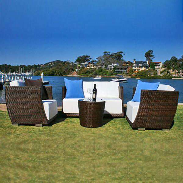 Outdoor Furniture - Wicker Sofa - Metal