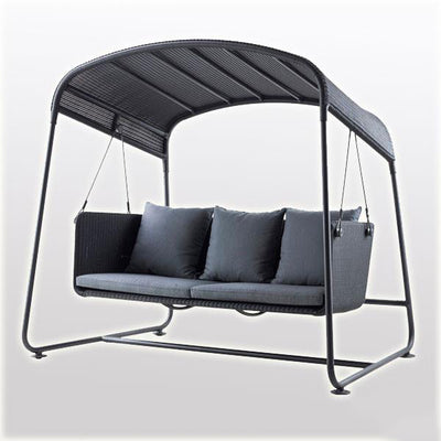 Outdoor Wicker Two Seater Swing - Catania