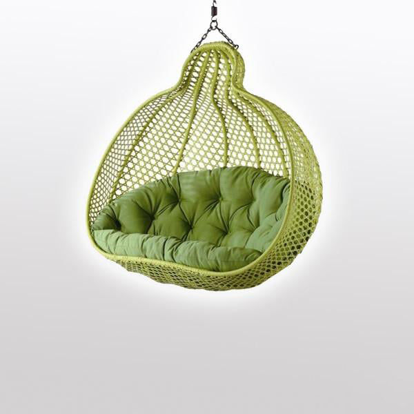 Outdoor Wicker - Swing With Stand - Pumpkin