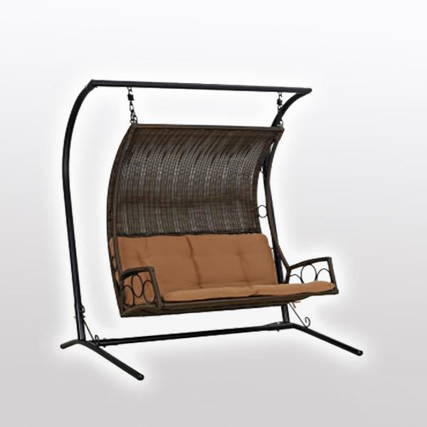 Outdoor Wicker Two Seater Swing - Zoya