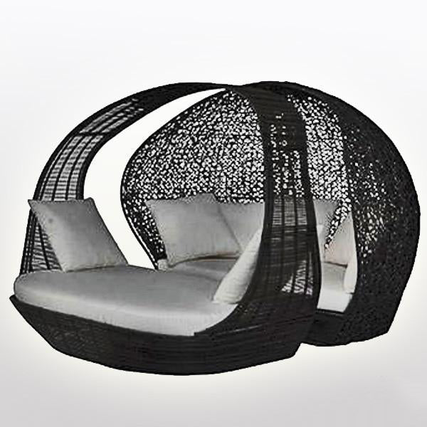 Outdoor Wicker Canopy Bed - Adeam & Eve