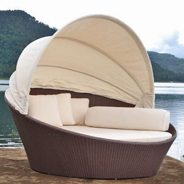 Outdoor Wicker Canopy Bed - Tulip